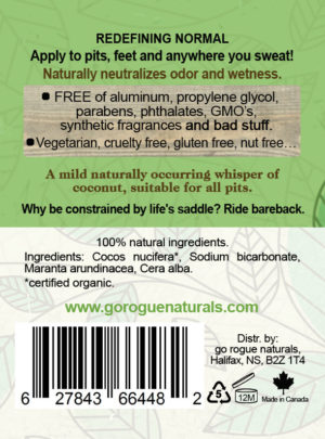 Raw – Unscented Natural Deodorant Stick